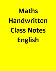 Maths Handwritten Class Notes - English