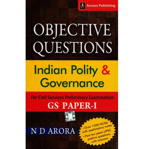 Indian Polity & Governance G.S. Paper - I 1500 MCQs