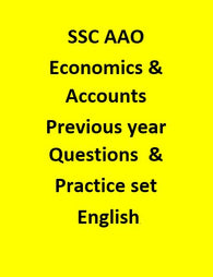 SSC AAO Previous year (2016) Questions & 20 Practice set (with Explanation) - English