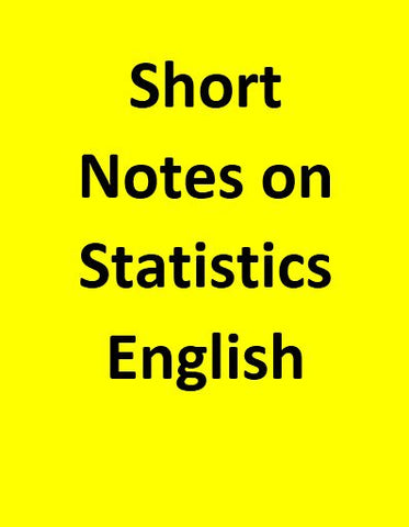 Short Notes on Statics - English