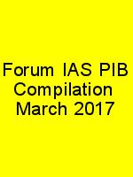 Forum IAS PIB Compilation  March 2017 N