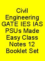 Civil Engineering GATE IES IAS PSUs Made Easy Class Notes 12 Booklet Set N