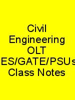 Civil Engineering OLT IES/GATE/PSUs Class Notes N