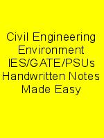 Civil Engineering Environment IES/GATE/PSUs Handwritten Notes Made Easy N