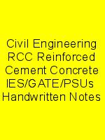 Civil Engineering RCC Reinforced Cement Concrete IES/GATE/PSUs  Handwritten Notes N
