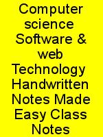 Computer science  Software & web Technology  Handwritten Notes Made Easy Class Notes N