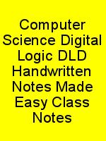 Computer Science Digital Logic DLD Handwritten Notes Made Easy Class Notes N