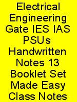 Electrical Engineering Gate IES IAS PSUs  Handwritten Notes 13 Booklet Set Made Easy Class Notes N