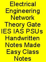 Electrical Engineering Network Theory Gate IES IAS PSUs  Handwritten Notes Made Easy Class Notes N