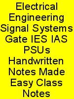 Electrical Engineering Signal Systems Gate IES IAS PSUs Handwritten Notes Made Easy Class Notes N