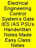 Electrical Engineering Control Systems Gate IES IAS PSUs Handwritten Notes Made Easy Class Notes N