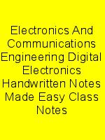 Electronics And Communications Engineering Digital Electronics Handwritten Notes Made Easy Class Notes N