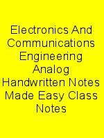 Electronics And Communications Engineering Analog Handwritten Notes Made Easy Class Notes N