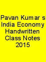 Pavan Kumar's India Economy Handwritten Class Notes 2015 N