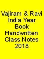 Vajiram & Ravi India Year Book Handwritten Class Notes 2018 N