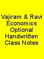 Vajiram & Ravi Economics Optional Handwritten Class Notes N