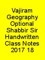 Vajiram Geography Optional Shabbir Sir Handwritten Class Notes 2017 18 N