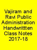 Vajiram and Ravi Public Administration Handwrittten Class Notes 2017-18 N