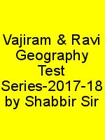 Vajiram & Ravi Geography Test Series-2017-18 by Shabbir Sir N