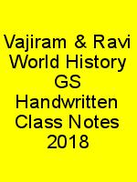 Vajiram & Ravi World History GS Handwritten Class Notes 2018 N