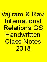 Vajiram & Ravi International Relations GS Handwritten Class Notes 2018 N