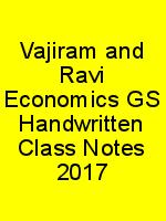 Vajiram and Ravi Economics GS Handwritten Class Notes 2017 N