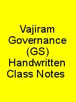 Vajiram Governance (GS) Handwritten Class Notes 2017