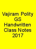 Vajiram Polity GS Handwritten Class Notes 2017 N