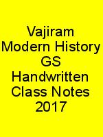 Vajiram Modern History GS Handwritten Class Notes 2017 N