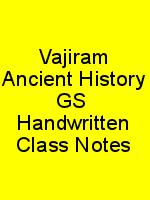 Vajiram Ancient History GS  Handwritten Class Notes N