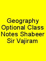 Geography Optional Class Notes Shabeer Sir Vajiram N