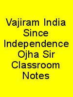 Vajiram India Since Independence Ojha Sir Classroom Notes N