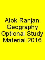 Alok Ranjan Geography Optional Study Material 2016 N