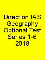 Direction IAS Geography Optional Test Series 1-6 2018 N