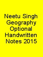 Neetu Singh Geography Optional Handwritten Notes 2015 N