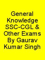 General Knowledge SSC-CGL & Other Exams By Gaurav Kumar Singh N