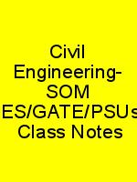 Civil Engineering- SOM – IES/GATE/PSUs – Class Notes N