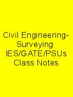 Civil Engineering- Surveying  IES/GATE/PSUs Class Notes N