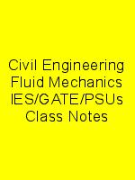 Civil Engineering Fluid Mechanics IES/GATE/PSUs Class Notes N