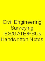 Civil Engineering Surveying IES/GATE/PSUs Handwritten Notes N