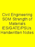 Civil Engineering SOM Strength of Materials IES/GATE/PSUs  Handwritten Notes N
