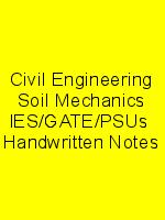 Civil Engineering Soil Mechanics IES/GATE/PSUs  Handwritten Notes N