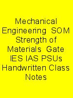 Mechanical Engineering  SOM Strength of Materials  Gate IES IAS PSUs Handwritten Class Notes N
