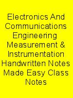 Electronics And Communications Engineering  Measurement & Instrumentation Handwritten Notes Made Easy Class Notes N