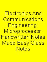 Electronics And Communications Engineering  Microprocessor  Handwritten Notes Made Easy Class Notes N