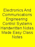 Electronics And Communications Engineering  Control Systems Handwritten Notes Made Easy Class Notes N
