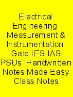 Electrical Engineering  Measurement & Instrumentation  Gate IES IAS PSUs  Handwritten Notes Made Easy Class Notes N