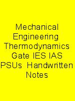 Mechanical Engineering  Thermodynamics Gate IES IAS PSUs  Handwritten Notes N