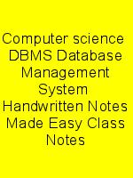 Computer science  DBMS Database Management System  Handwritten Notes Made Easy Class Notes N