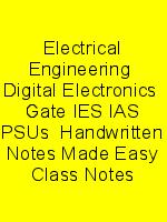 Electrical Engineering  Digital Electronics  Gate IES IAS PSUs  Handwritten Notes Made Easy Class Notes N